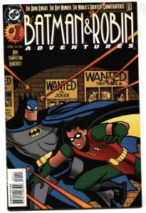 Batman and Robin Adventures #1 1995 HARLEY QUINN wanted poster cover.