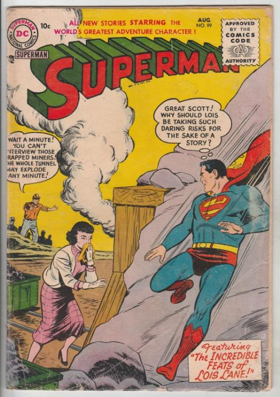 Superman #99 (Aug-55) VG+ Affordable-Grade Superman