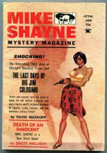 Mike Shayne Mystery Magazine January 1974-Big Jim Colosimo- smoking gunmoll