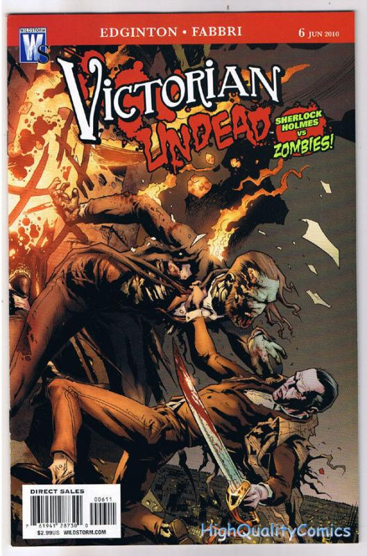VICTORIAN UNDEAD #6, NM,  Sherlock Holmes vs Zombies, 2010