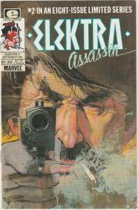 2 Elektra: Assassin Epic Comic Books # 2 8 Frank Miller Bill Sienkiewicz LH26