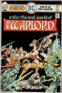 WARLORD 1 GOOD   Feb. 1976 pretty, but  3 cover tear COMICS BOOK