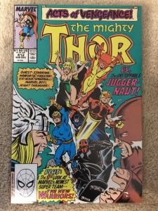 Marvel Thor 412 * 1st Appearance Of The New Warriors * VF+