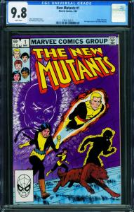 The New Mutants #1 CGC 9.8 First issue-1983 Marve comic book  1991126015