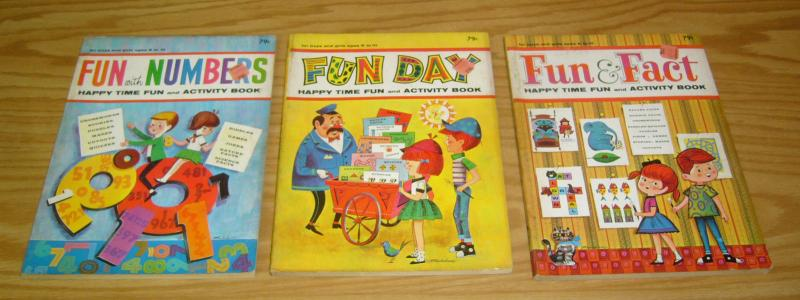 (3) Fun & Fact Activity Books FN happy time fun day - fun with numbers