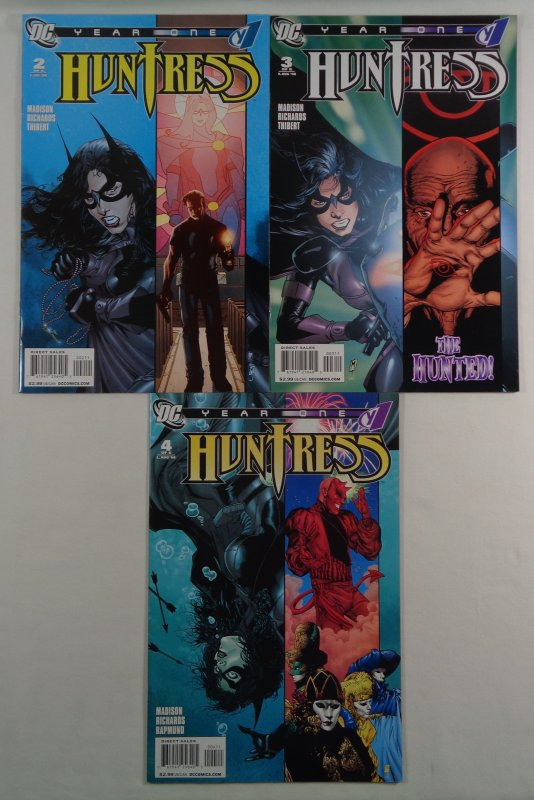 Huntress Year One #2 3 4 NM- Front/Back Cover Scans DC 2008