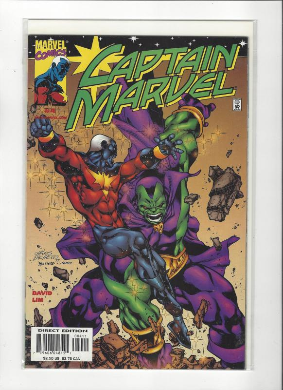 Captain Marvel #4 (2002) Vs Drax The Destroyer Marvel Comics NM