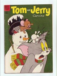 Tom and Jerry Comics #127 Golden Age Dell Comics 1955 VG/FN
