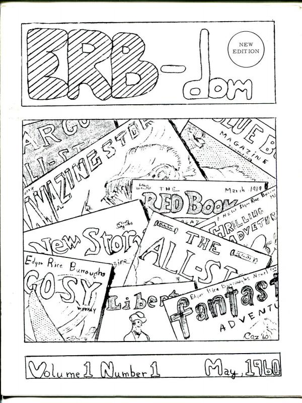 ERB-dom  #1 1960's-reprint of the origal-Tarzan-Edgar Rice Burroughs-scarce-FN