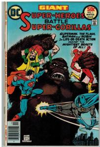 SUPER HEROES BATTLE SUPER GORILLAS 1 FN Winter 1976 GIA