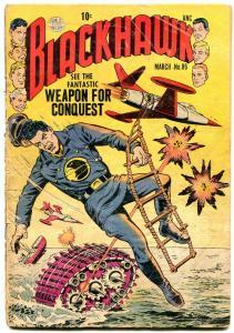 BLACKHAWK #86 1955 QUALITY PUBS PRE-CODE WAR SCI FI FR