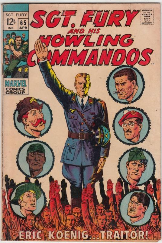 Sgt. Fury and His Howling Commandos #65 (Apr-69) VG/FN Mid-Grade Sgt. Fury, H...