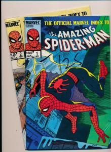Marvel Comics Mixed lot INDEX AMAZING SPIDERMAN #1(1984) & #2(1985) F/VF (HX680)