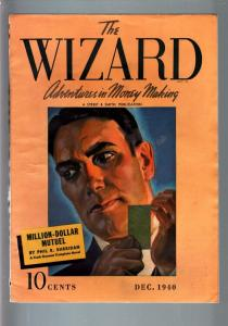 THE WIZARD 1940 DEC-#2-STREET AND SMITH PULP-RARE! FN/VF