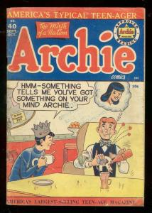 ARCHIE COMICS #40 1949-GOLDEN AGE-JUGHEAD-BETTY & VERON G/VG