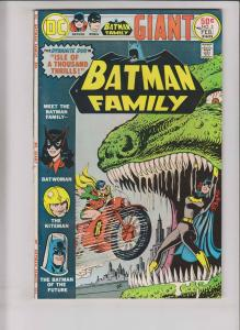 Batman Family #3 VF- february 1976 - batwoman - batman of the future - robin