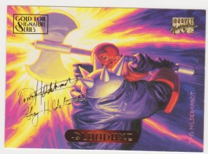 1994 Marvel Masterpieces Gold Foil Signature Series #15 Bloodaxe/Hildrebrandt
