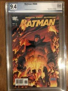 Batman #666 PGX Graded 9.4NM First Appearance of Damian Wayne as Batman