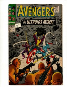 Avengers # 36 FN Marvel Comic Book Hulk Thor Iron Man Captain America BJ1