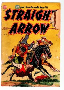 STRAIGHT ARROW COMICS #2-INDIAN STORIES BASED ON RADIO SERIES-MEAGHER-- FR