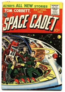 TOM CORBETT SPACE CADET VOL 2 #1 1955-PRIZE-FIRST ISSUE-ROBOT COVER-VG-