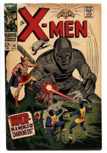 X-MEN #34 comic book 1967-MARVEL COMICS-Cyclops VG