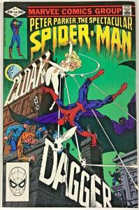 SPECTACULAR SPIDER-MAN#64 VF/NM 1982 FIRST CLOAK & DAGGER BRONZE AGE COMICS