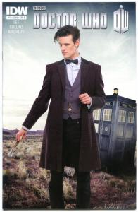 DOCTOR WHO #13 B, NM-, Photo, Vol 3, 2012, IDW, Time Lord, Tardis, more in store