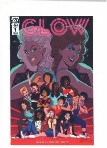 Glow #1 NM- 9.2 IDW Comics 2019 Netflix Wrestling