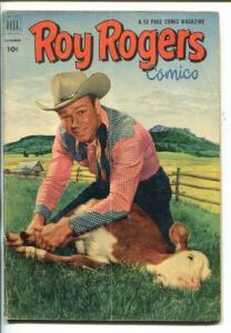 ROY ROGERS #57-1952- PHOTO COVER-KING OF THE COWBOYS-HEROIN STORY-vg