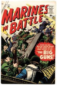 MARINES IN BATTLE #24 1958-ATLAS-JOE MANEELY-KOREAN WAR-vf-