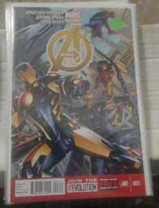 Avengers # 3 2013 Marvel  hickman  thor ironman hawkeye SPIDERMAN  ADAM GARDINER