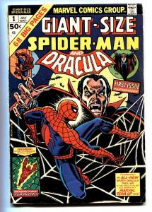 GIANT-SIZE SPIDER-MAN #1 comic book 1974 Marvel Dracula VG/FN