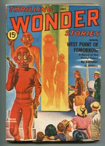 THRILLING WONDER STORIES-09/1940-THRILLING-ALIEN TRANSFORMATION-WORLDS FAIR-vg