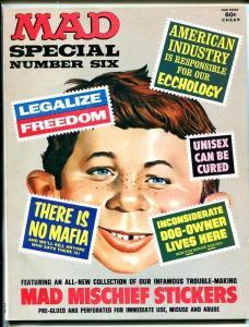 MAD SPECIAL #6-INCLUDES BONUS STICKERS-BERG-DRUCKER-MARTIN-1972-vf+