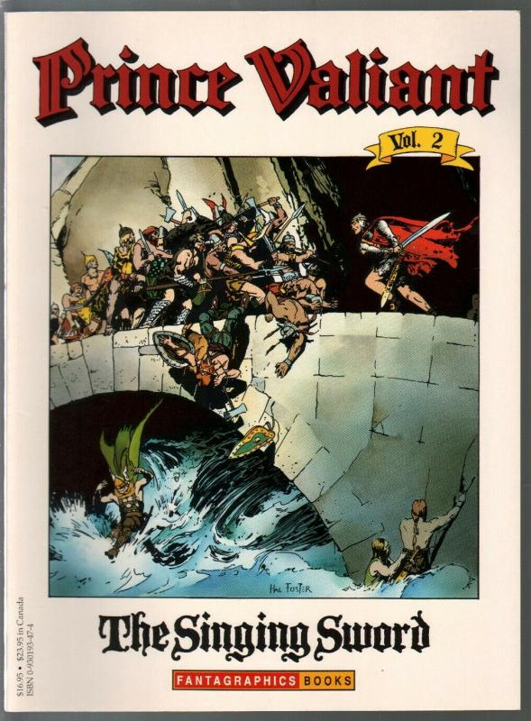 Prince Valiant #2 1990-Fantagraphics-color reprint-Hal Foster-Singing Sword-VF