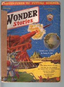 Wonder Stories 1/1932-STANLEY BELL Mars story-PULP! G