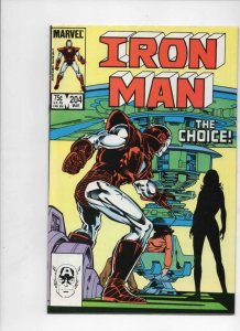 IRON MAN #204, VF/NM Tony Stark, the Choice, 1968 1986, more IM in store, Marvel