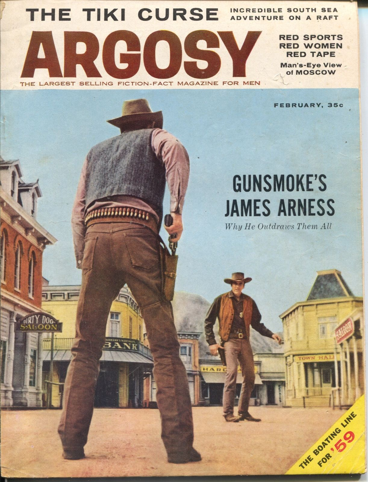 Argosy 11/1959-James Arness-Gunsmoke-Russia Today-Lincoln
