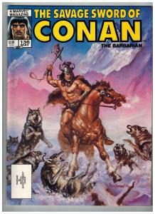 The Savage Sword Of Conan The Barbarian # 136 NM Marvel Magazine Sonja Kull S76