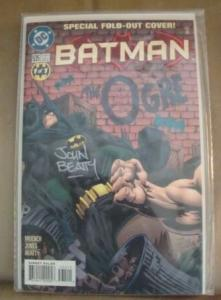 BATMAN #535 SPECIAL FOLD OUT COVER SIGNED BY JOHN BEATTY W/COA