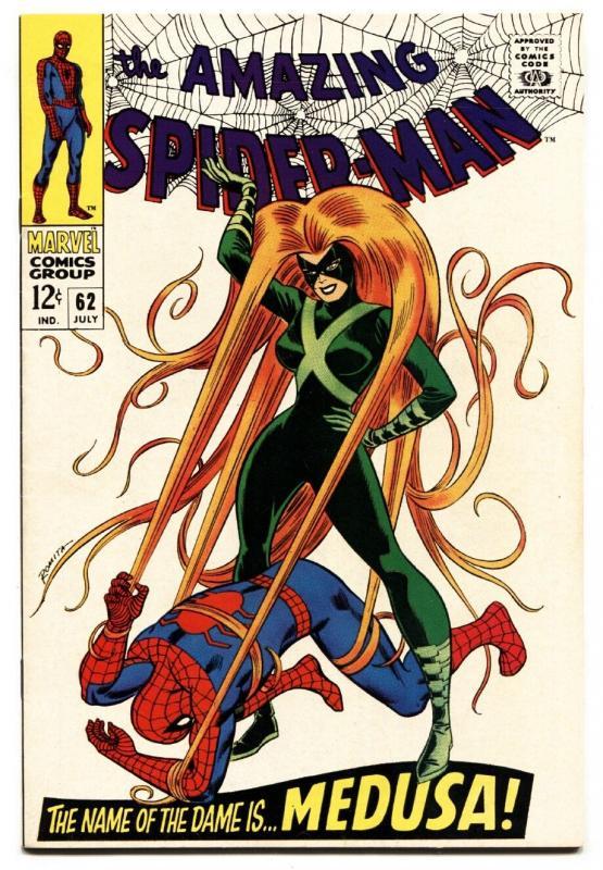 Amazing Spider-Man #62 comic book 1968- Medusa- Romita cover NM-