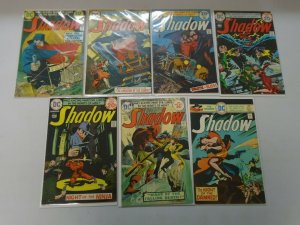 The Shadow lot 7 different from #2-12 avg 5.0 VG FN (1974-75 1st DC Series)