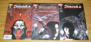 Dracula Chronicles #1-3 VF/NM complete series - roy thomas - joe linsner origin