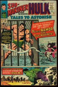 TALES TO ASTONISH #70-SUB-MARINER-HULK-MARVEL-FN/VF-SUBBY AND HULK BEGIN! FN/VF