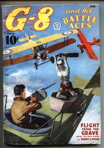 G-8 and His Battle Aces Pulp June 1937-Aviation hero pulp-Zombie cover-VG