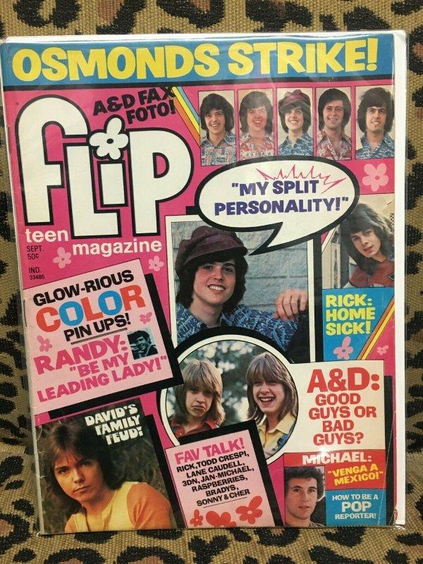 FLIP MAGAZINE November 1973 - OSMONDS DAVID CASSIDY 3 DOG NIGHT