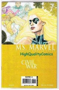 MS MARVEL #7, NM-, Palmiotti, Femme Fatale, Civil War, 2006