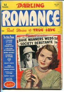 Darling Romance #3 1950-Close-Up-photo cover-interracial kiss panel-VG
