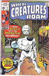 Where Creatures Roam #2 (Sep-70) VF+ High-Grade Khan